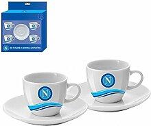 Nemesis mc44np Tassen Kaffee Kollektion, Keramik, Weiß/Hellblau/Blau, 8Einheiten