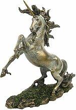 Nemesis Now Einhorn Rampant Figur Bronze 36 cm