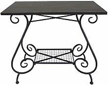 Nene-Home ILANDIA Tisch aus dunkelrostfarbenem