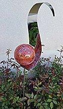 Neo-Therm Skulptur Flame rot aus Edelstahl 100 cm