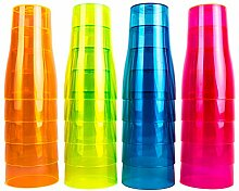 NEON STYLES – UV Bier-becher, 500 ml, 100 Stück