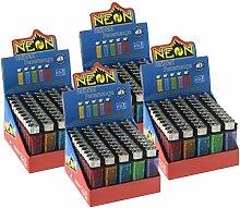 Neon Transparent Einwegfeuerzeug Reibrad-Feuerzeug
