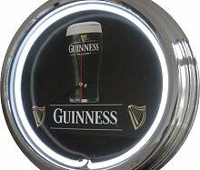 Neon Uhr Guinness Wanduhr Deko-Uhr Leuchtuhr USA