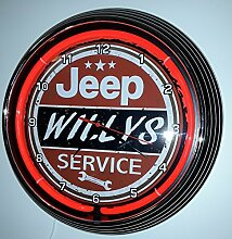 NEONUHR - AGED JEEP WILLYS SERVICE SIGN-WANDUHR