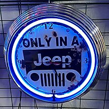 NEONUHR AGED - ONLY IN A JEEP SIGN - GARAGE