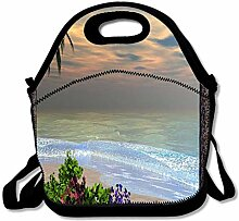 Neoprene Lunch Bag, Thick Insulated Lunch Box Bag