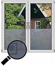 NEOXXIM - Sichtschutzfolie Fensterfolie statisch Meterware Geometrisch (SF43) 500x122 cm mattierte Klebefolie Fenster Bad Milchglas Glasfolie Ädhäsionsfolie