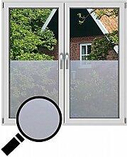 NEOXXIM - Sichtschutzfolie Fensterfolie statisch Meterware Milchglas (SF10) 300x122 cm mattierte Klebefolie Fenster Bad Milchglas Glasfolie Ädhäsionsfolie
