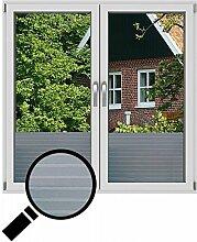 NEOXXIM - Sichtschutzfolie Fensterfolie statisch Meterware Streifen (SF18) 200x122 cm mattierte Klebefolie Fenster Bad Milchglas Glasfolie Ädhäsionsfolie