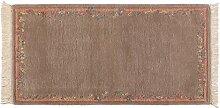 Nepali ca. 145 x 75 cm · Braun · handgeknüpft · Schurwolle · Klassisch · hochwertiger Teppich · 14049