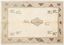 Nepali ca. 240 x 170 cm · Beige · handgeknüpft · Schurwolle · Klassisch · hochwertiger Teppich · EX14605