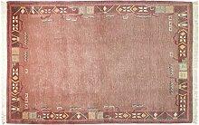 Nepali ca. 260 x 180 cm · Rot · handgeknüpft · Schurwolle · Modern · hochwertiger Teppich · EX13266