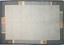 Nepali Royal Indien ca. 240 x 170 cm · Grau ·