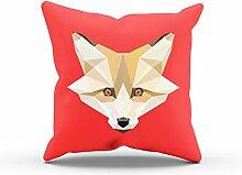 NERDO - Foxy Polygons - FARBE: ROT OHNE FÜLLUNG -