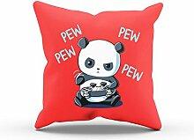 NERDO - Gaming Panda - FARBE: ROT OHNE FÜLLUNG -
