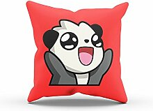 NERDO - Panda Face - FARBE: ROT OHNE FÜLLUNG -