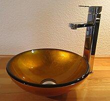 Nero Kleines Aufsatz Glas Waschbecken Sunshine