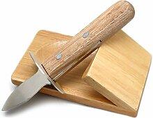 NERTHUS Austernmesser mit Boden, Holz, Edelstahl,