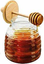 NERTHUS FIH 348 Honigglas mit Tropfer,