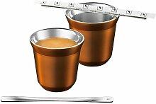Nespresso Pixie Lungo Metall Becher Tasse (Lungo Linizio - Orange)