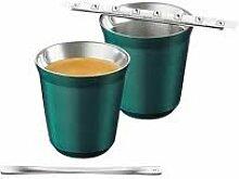Nespresso Pixie Metall Becher Tasse - Grün (Fortissio Lungo)