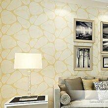 Nest Umweltfreundlich Vliestapete Modern Minimalist Schlafzimmer Wohnzimmer TV Hintergrund Wand wall-to-wall Tapete, Only the wallpaper, Pale golden beige