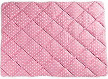 Nestbauglück Krabbeldecke Sterne, rosa