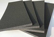 Nestchen für Wände Garage und Box Auto, Set von 4x Platten selbstklebend–45x 16,5x 1,0cm von Dick–Farbe Code RAL aus Polyethylen–Schutz Autos Tür Auto, auch als Puffer Stoßstange, maximaler Schutz.