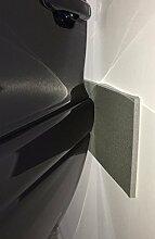 Nestchen Wände Garage und Box Auto, 2x Platten selbstklebend–Maße 45x 20x 0,6cm Dicke–Farbe grau RAL 7030aus Polyethylen–Schutz Autos Tür Auto, wie Puffer Stoßfänger