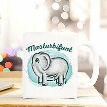 Netcream Lustig Bedruckte Tasse mit Elefantenmotiv