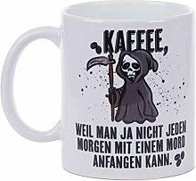 Netcream Lustig Bedruckte Tasse mit Sensenmann