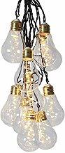 netproshop Deko LED Lichterkette Glühbirne aus