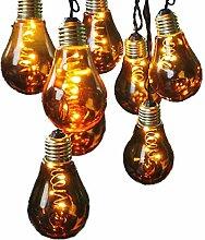 netproshop LED Lichterkette Glühbirne aus Glas