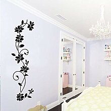 Nette Blumenwandaufkleber Wandkunst Aufkleber