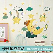 Nette Cartoon 3d Stereo Wandaufkleber Kinderzimmer