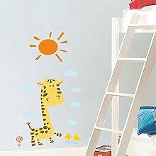 Nette Diy Cartoon Giraffe Sun Wolken Wandaufkleber
