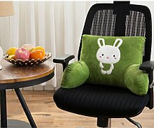 Nette Karikatur Büro Kissen Lendentaillenkissen Rückenpolster Queen-Size-Bett Stuhl