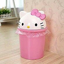 Nette Katze Tisch Schlafzimmer Mini Mülleimer