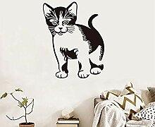 Nette Katze Vinyl Wandaufkleber Für Kinderzimmer