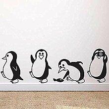 Nette Kleine Pinguin Wandaufkleber Diy Dekoration