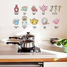 Nette küchengerät wandaufkleber wohnkultur