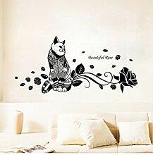 Nette Mode Wand Katze Aufkleber Katze Zimmer