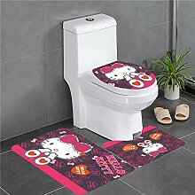 Nette Toilette Set Kissen Home Paste Toilette