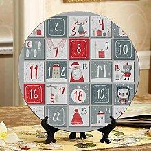 Nette Weihnachten Adventskalender Dekor Platten