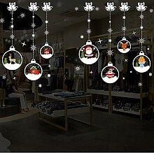 Nette Weihnachten Wandaufkleber Fenster Glas