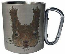 Netter Eichhörnchen-Gesicht-Smile Edelstahl