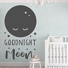 Netter Mond Aufkleber für Babys Schlafzimmer
