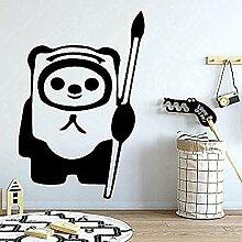 Netter Panda Wandkunst Aufkleber Vinyl