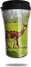 Nettes Naturalpaka Glas Kaffeebecher Travel Mug