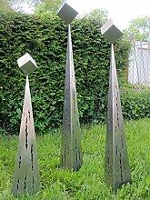 Neu 2015 Edelstahl 3er Gruppe Raindrops Gartendeko